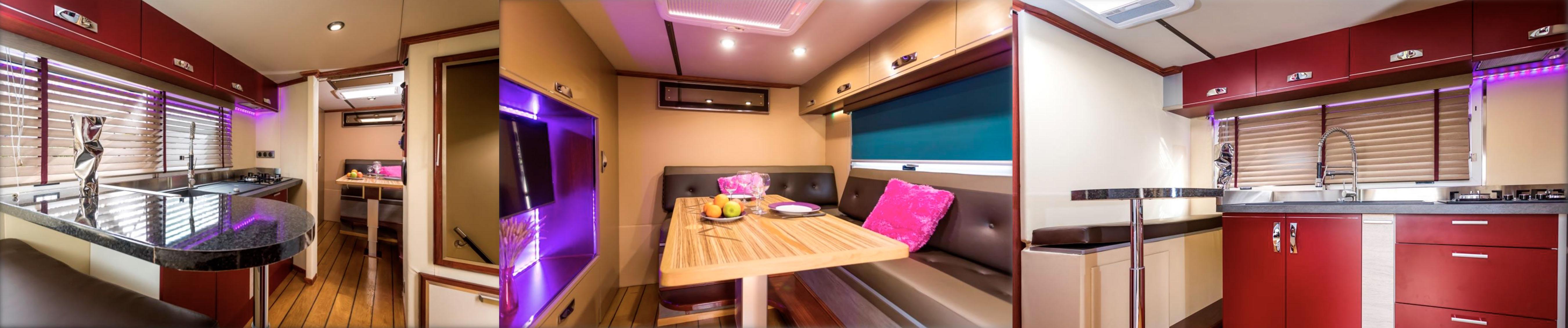 Interieur personalisation camping-car remorque food truck